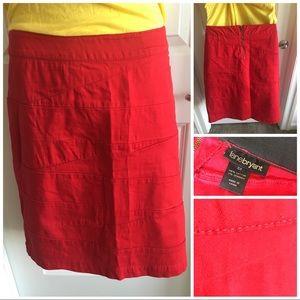 Red Denim Bandage Pencil Skirt